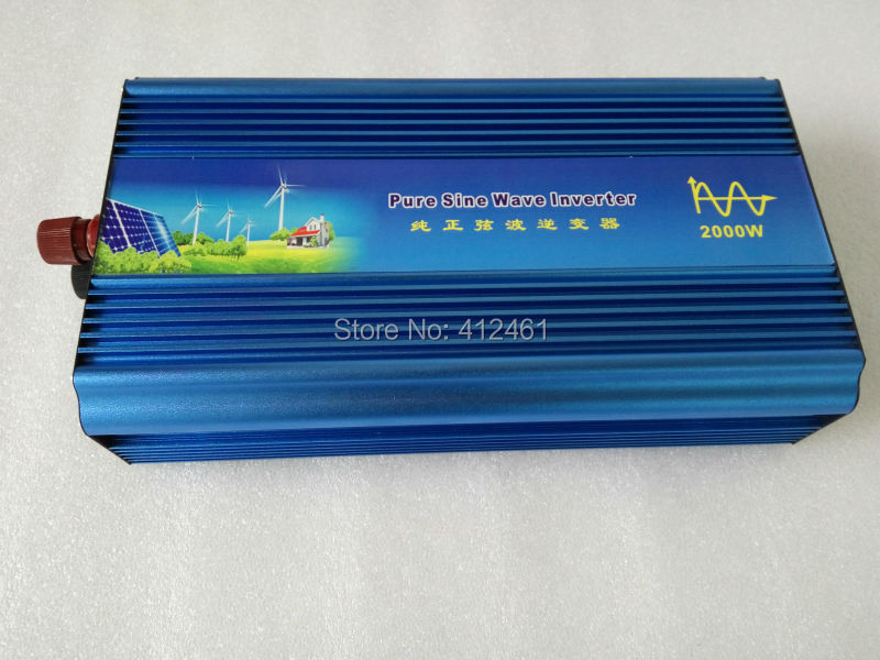 New Arrive 2000W Power Inverter Pure Sine Wave  DC 12V 24V to AC 220V Solar Power Inverter Peak Power 4000W Free ShippingNew Arrive 2000W Power Inverter Pure Sine Wave  DC 12V 24V to AC 220V Solar Power Inverter Peak Power 4000W Free Shipping
