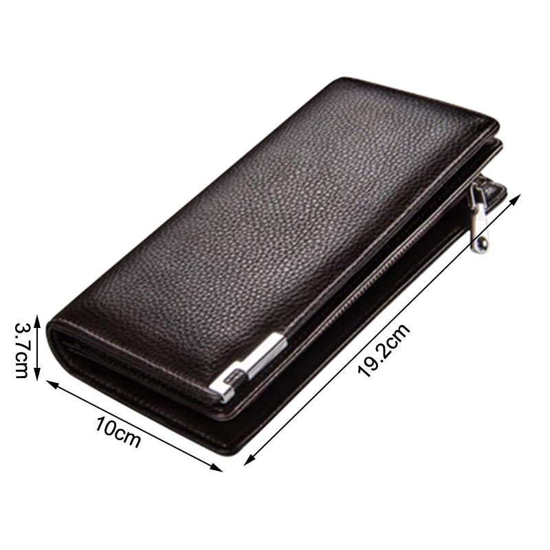 Men Long Purse Wallets Storage Bag Zipper Buckle Fashion For Coin Money Cards Business Best Sale-WT