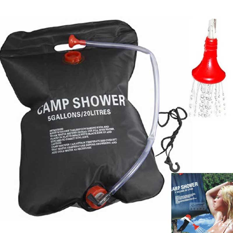 Us 10 13 37 Off Garden Sprinkler Super Solar Camp Hiking Shower 20l 5 Gallon Water Camping Bag Heated Outdoor In