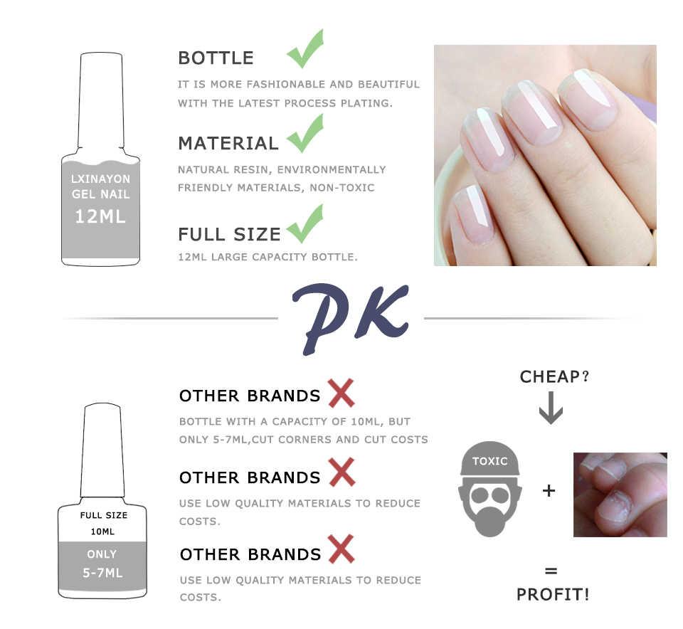 Esmalte de uñas de gel de colores 70 de 12ml Set manicura francesa arte de uñas gel barnices gel laca uv resina uñas de gel mate capa superior imprimación
