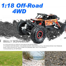 1 18 4WD Alloy Metal Climbing Rock Crawler Truck Off Road Car Model Remote Control Eletric