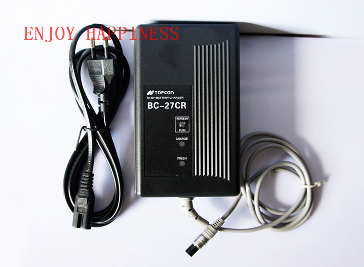 BC-27BR Charger For Topcon BT-52Q BT-52QA Battery Charger nd new universal topcon 3 pin charger for topcon bt 52q bt 52qa battery with free post shipping