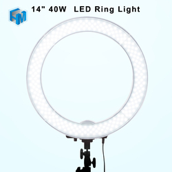 Camera Photo Video 14 Outer 40W LED Ring Light 5500K Dimmable Photography Ring Video Light for Camera Fill Light