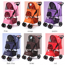 Four Wheel Oxford Pet Stroller, for Cat, Dog and More, Foldable Carrier Strollin