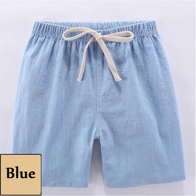 Halilo Kids Summer Clothes Toddler Boy Shorts Cotton Solid Color Girl Short Pants Casual Unisex Boys Girls Shorts Beach Wear