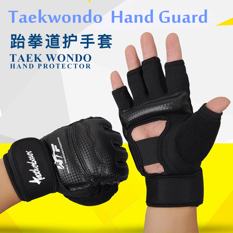 Взрослые дети половина палец Боксёрские перчатки митенки Санда каратэ Sandbag таэквондо протектор Прихватки для мангала