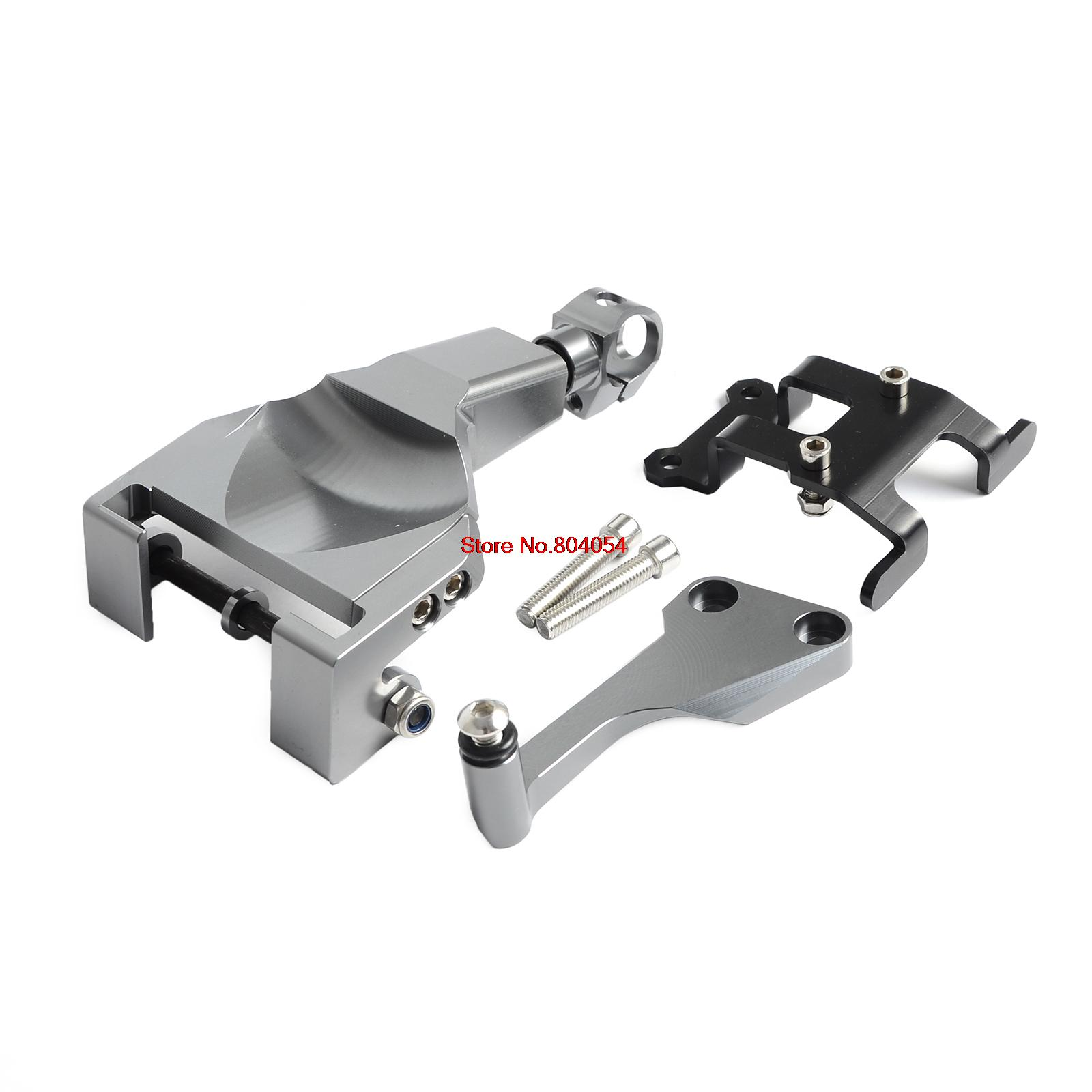 Titanium Motorcycle Stablizer Damper Mounting Bracket Kit For Yamaha MT-07 MT07 MOTO CAGE 2014 2015 2016 for yamaha mt 03 2015 2016 mt 25 2015 2016 mobile phone navigation bracket