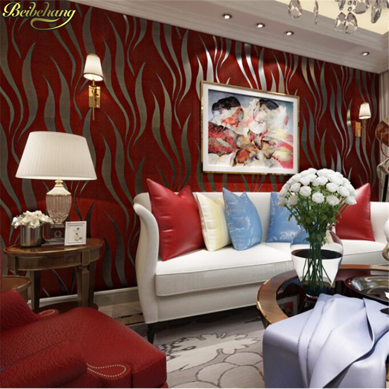 beibehang 3D velvet leather thickening wallpaper bedroom living room sofa TV background modern striped wallpaper papel de parede simple bathroom ceramic wash four piece suit cosmetics supply brush cup set gift lo861050