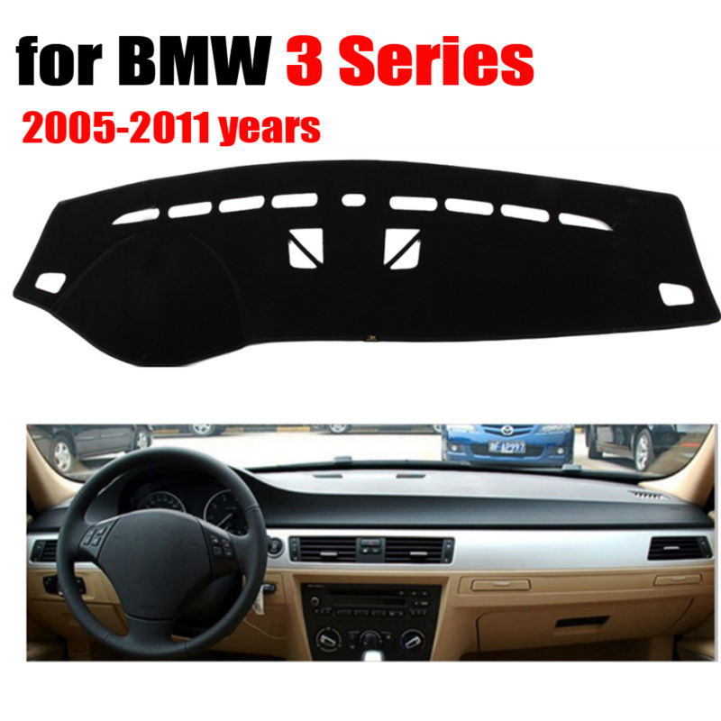 Car Dashboard Covers Mat For BMW 3 Series No Navigation 2005-2011 Left Hand Drive Dashmat Pad Dash Cover Auto Accessories