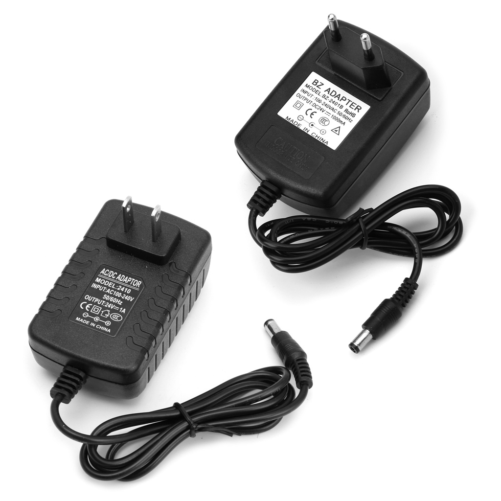 5.5mm*2.5mm DC <font><b>24V</b></font> 1A <font><b>AC</b></font> <font><b>Adapter</b></font> Charger Power Supply for LED Strip Light CCTV image