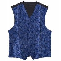 Ikepeibao Wedding Blue Wine Men's Sleeveless ...