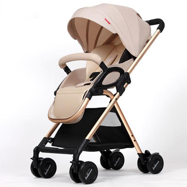 China barato Carrinho de Bebê Leve 5.9 KG 7 Brindes Folding Carriage Buggy Pram Pushchair Recém-nascidos bb transporte do carro Rússia