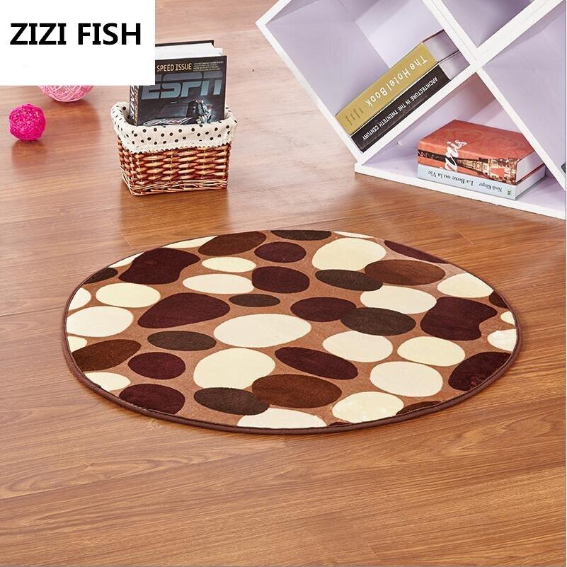 Мода круглый ковер журнальный столик комната спальня гостиная коврик детский сад коврик  ...