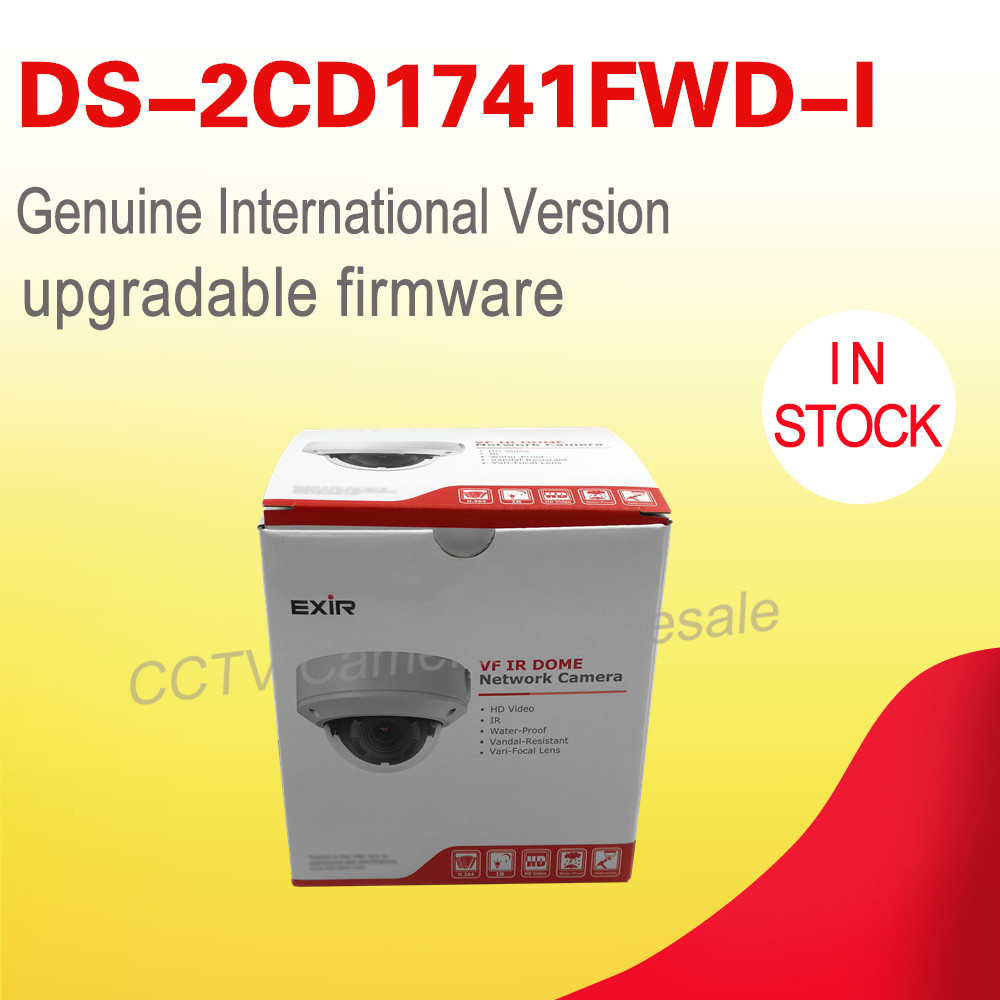Free shipping English version DS-2CD1741FWD-I replace DS-2CD2745F-IS 4MP network dome ip security camera VF lens 2.8-12mm
