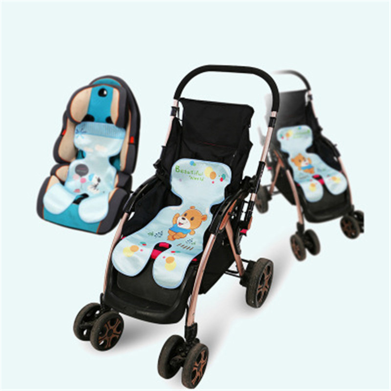 One Pack, Blue Summer Baby Car Seat Liner Baby Stroller Cooling Seat Pad Breathable Child Safety Cart Mat Ice Silk Cushion Non-Toxic Safe for Kids