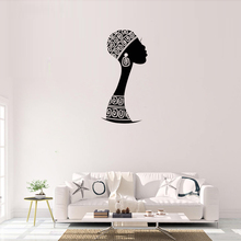 Home Deocration African Woman Vinyl Wall Decal  Silhouette Decals Removable Mural Murals AY1903