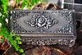 Fashion Jewelry Box Zinc-alloy Metal trinket box Vintage Rose Flower Design Tin-alloy Box Jewellery Casket Gift Box