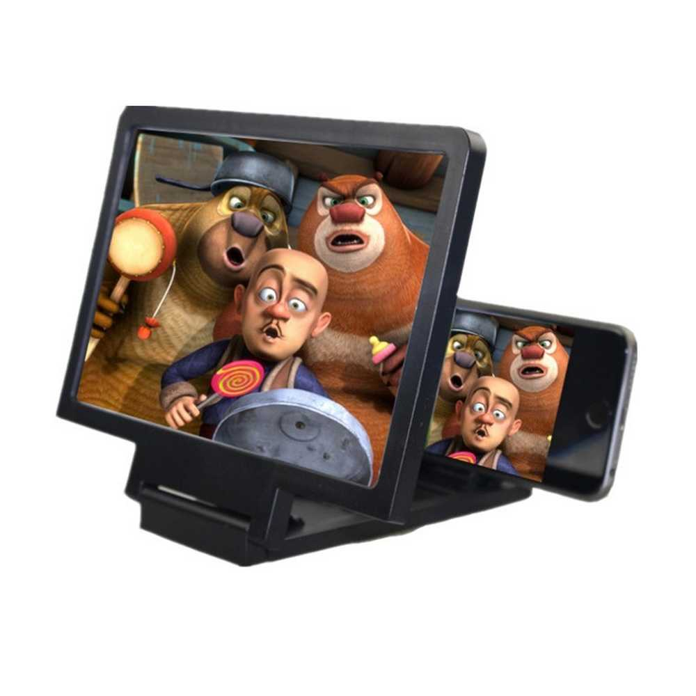 スマートフォン画面拡大鏡 3D スクリーン HD ビデオアンプ拡大鏡音拡声器ユニバーサルポータブル折りたたみ