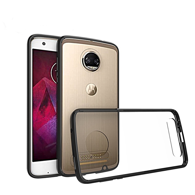 Case For Motorola Moto Z 2 Force fundas Transparent Armor Protector Celular Back Cover For Moto Z2 Force Phone Cover Capa fu308