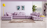 U BEST Garden Corner Sofa Rural Living Room Sofa Modern Simple Sofa Combination Corner Fabric Sofa