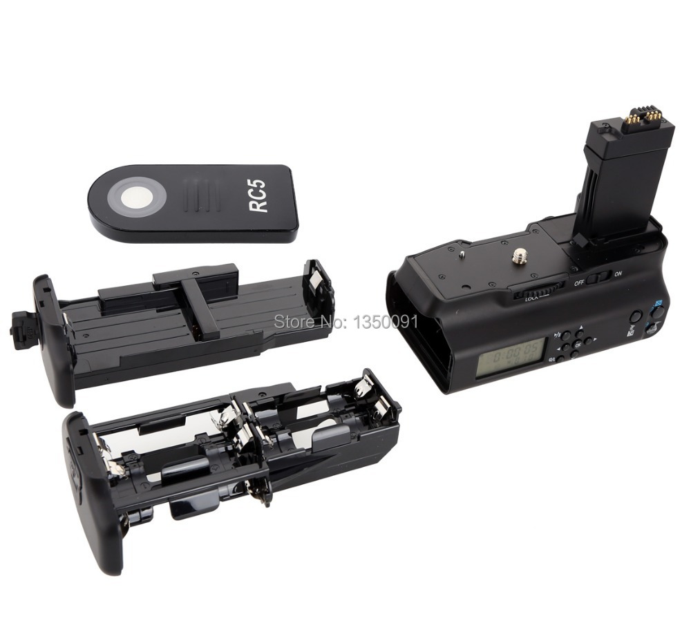 Meike Mk550dl Lcd Timer Battery Grip For Canon Eos 550d 600d 650d Batre Lp E8 Untuk Tipe Kamera 700d T5i T4i T3i T2i In Grips From Consumer Electronics On