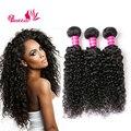 Soft Jerry Curl Virgin Hair 3 pcs Brazilian Kinky Curly Virgin Hair Curly Weave Human Hair Bundles Brazilian Curly Virgin Hair