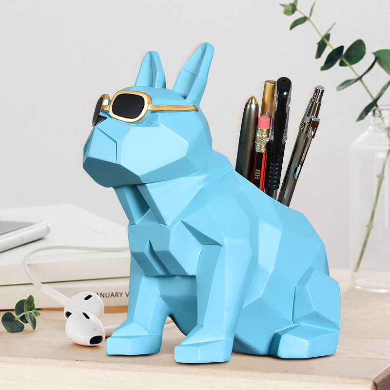 Home Decor Considerate European Style Dog Pen Pot Resin Desk Crafts Home Decoration Ins Creative Cute Animal Figures Storage Box Drop Shipping With Traditional Methods Home & Garden