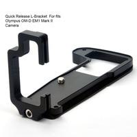 Durable Quick Release L Bracket Tripod Plate Base Camera Grip Handle For Olympus O MD E M1 II OMD EM1 ( Mark II ) Digital Camera