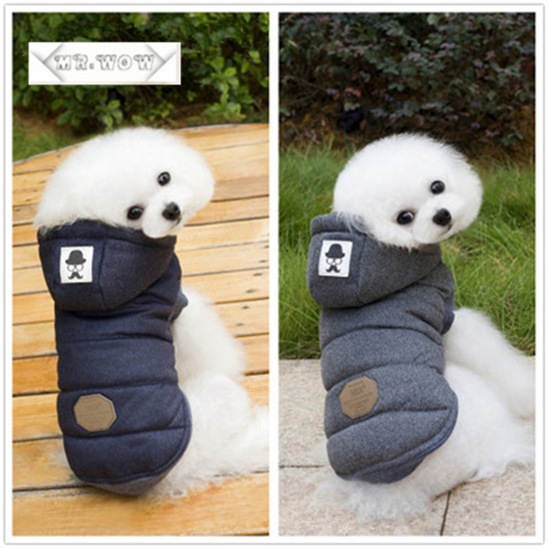 Pet dog clothes spot autumn and winter dog coat direct burst models mustache legs coat Dog Down & Parkas