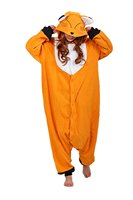 Women Men Fox Costume Sleepsuit Kugurumi Pajamas Sets Animal Onesie Unisex Adult Sleepwear Winter Nightie For Halloween Party