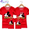 2017 Mickey Family Outfit Ropa Familia Madre E Hijos Cartoon Mouse Moeder Dochter Kleding 10 Colors Mother Daughter T-shirts