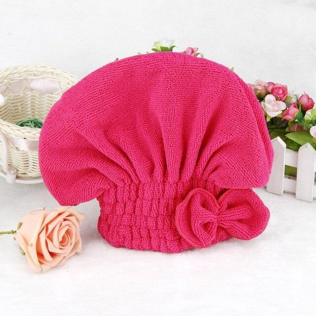 1 ADET Mikrofiber Duş banyo kabı saç kurutma havlusu Elastik Bant banyo kabı Spa Şapka Sevimli Saç Koruyucu Duş Şapkaları Banyo Aksesuarları