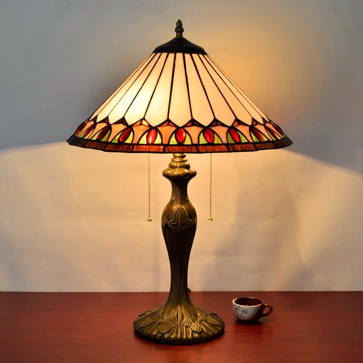 European style rose American retro simple living room table lamp base bedroom bedside lamp 16 inch zipper