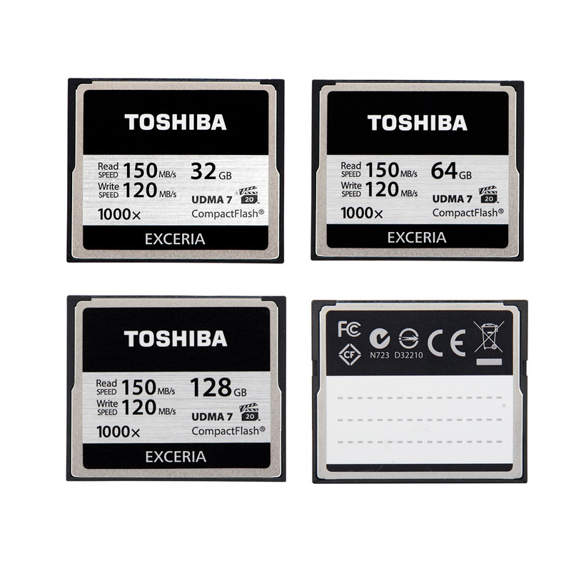 TOSHIBA 1000x 32GB 64GB 128GB CompactFlash CF Card High Speed Flash Memory Card For DSLR Camera Full HD 3D Video Camcorder