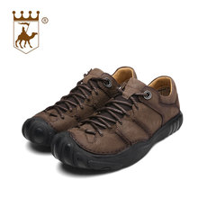 BACKCAMEL Genuine Leather Outdoor Man Casual Shoes Male Footwear Breathable Casual Sneakers Flat Platform Shock Absorption