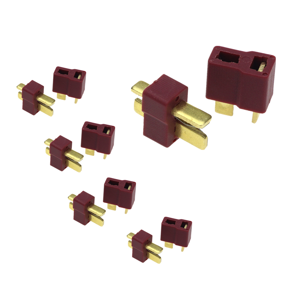 T Plug Male & Female Connectors Deans Style For RC LiPo B ESC Battery Lipo Battery traxxas style female to tamiya male connector adapter lipo nimh rc battery esc