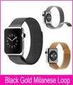 Venda quente 1:1 original milanese laço de aço inoxidável pulseiras de relógio para apple watch série 2 42mm 38mm com forte magnético fechamento