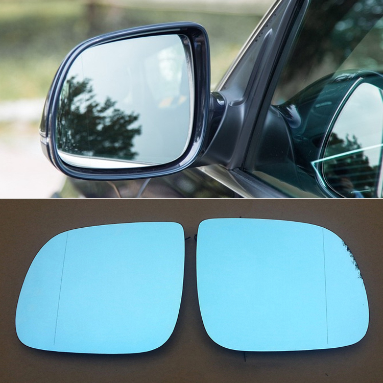 Ipoboo 2pcs New Power Heated w/Turn Signal Side View Mirror Blue Glasses For Audi Q5/Q7