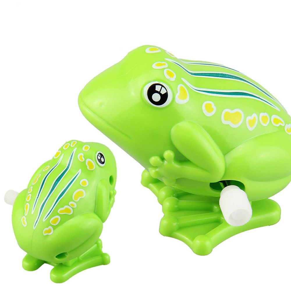 New Lovely Hot Selling Plastic Jumping Frog Clockwork Toy Wind Up Toy For Children high quality Clockwork Wind Up Classic Toys