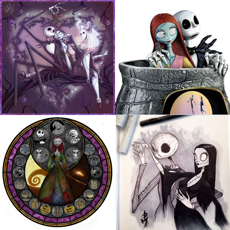 5D Diy Diamond Painting kit full drill square/round Resin nightmare before christmas jack diamond embroidery cross stitch Mosai5D Diy Diamond Painting kit full drill square/round Resin nightmare before christmas jack diamond embroidery cross stitch Mosai