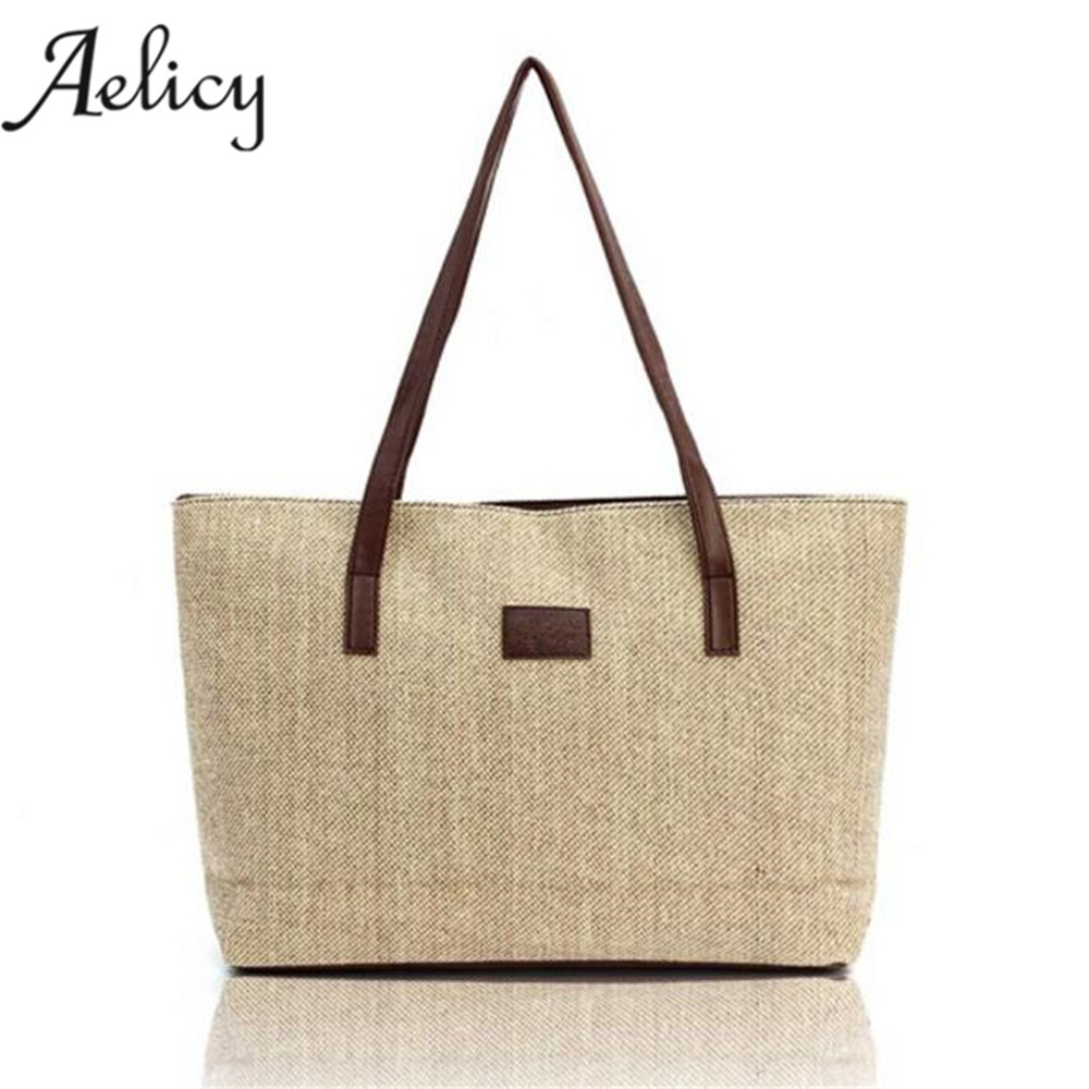 Aelicy Women Fashion Canvas Handbag Shoulder Bags Shopping Linen Casual Totes high quality crossbody bags 2019 new designAelicy Women Fashion Canvas Handbag Shoulder Bags Shopping Linen Casual Totes high quality crossbody bags 2019 new design