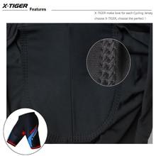 X-Tiger 5D Coolmax Acolchoado Shorts de Ciclismo Calções de Bicicleta MTB Road Bike Shorts Ropa ciclismo Calças Justas À Prova de Choque Para O Homem mulheres