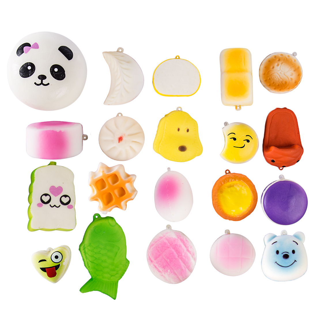 20/30 Pcs Fresh Scent Soft Slow Rebound Squish Decompression Learning Toys For Children Set - Random Assortment