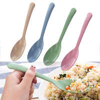 Kitchen Accessories 1PC Popular 2020 New wheat straw Spoon Portable High Quality Eco friendly tableware Hot Sale Restaurant