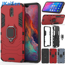 Armor Ring Case For OPPO R9S R11S Plus R15 R17 Case Magnetic Car Hold Shockproof Soft Bumper Phone Cover For OPPO A5 A39 Case(China)