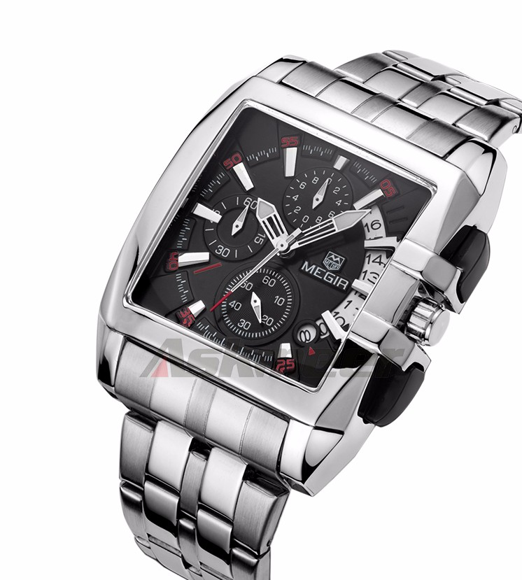 Megir Luxury Brand Men Watch Clock Full Steel Men's Quartz Chronograph Wristwatch (6)