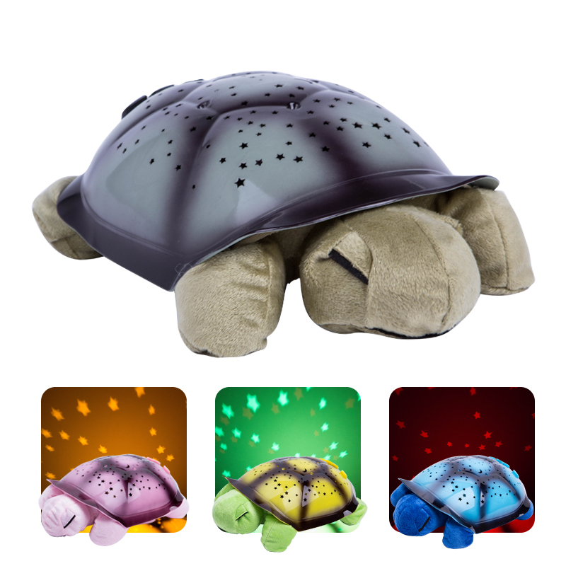 Projector Night Lamp USB Musical Turtle Night Light Stars Constellation Children Bedside Night Light Kids Gift