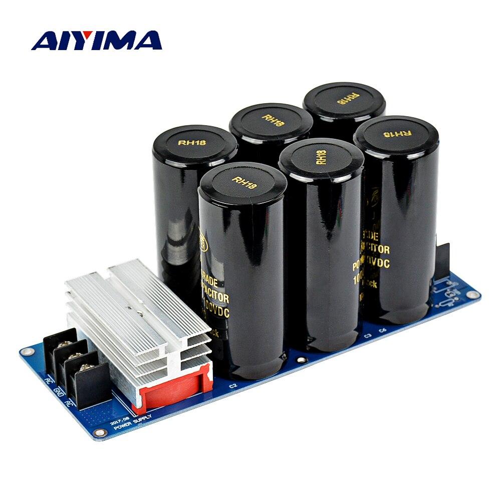Aiyima Amplificateur Redresseur Filtre Double Alimentation Kits 50A 500 W Carte de Puissance HIFI Diy Kits 10000 uF/50 V 10000 uF/100 V