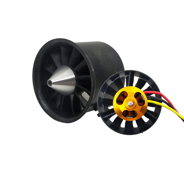 QX-Motor 70mm Electronic Ducted Fan 12 Blades EDF With 2827 KV2600 Brushless Motor Toy For RC Drone Model Parts Wholesale 1