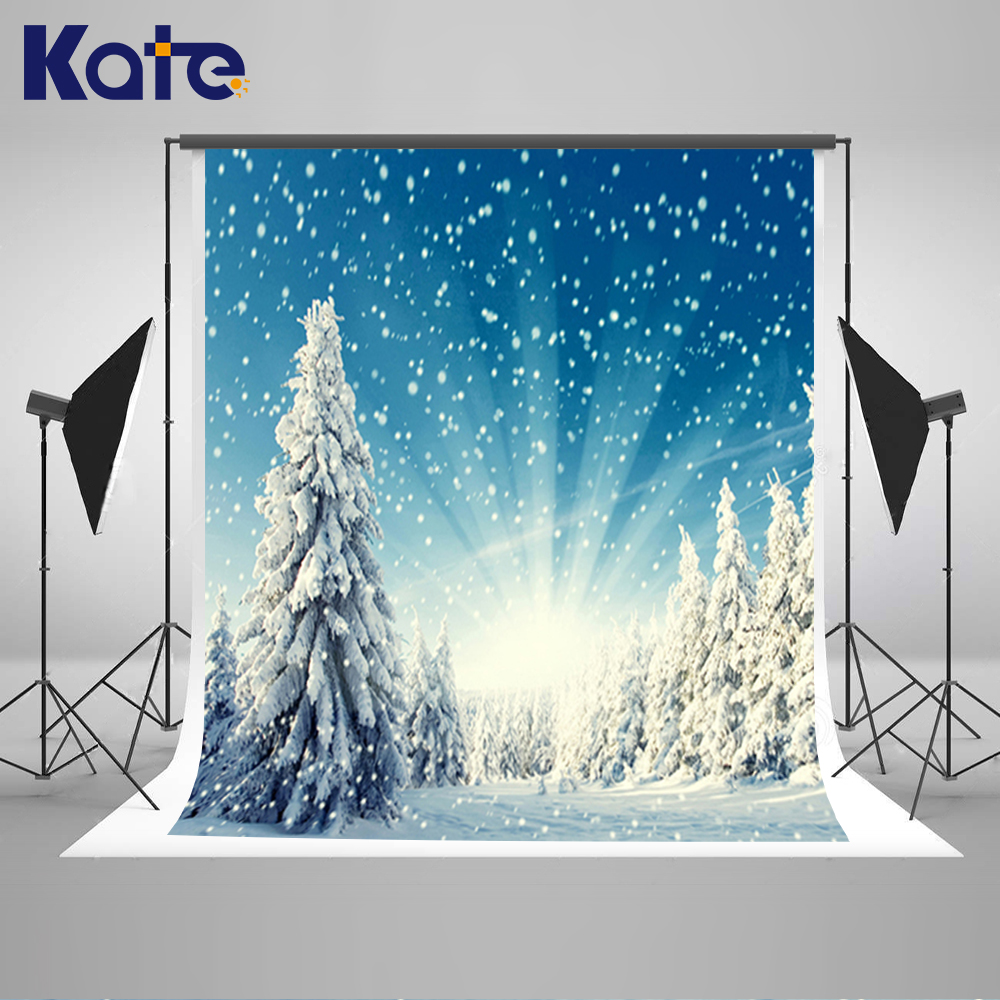 Kate Snow Background Winter Photography Backdrops Christmas Bokeh Backgrounds For Photo Studio Snowflake Mountain Backdrops kate christmas village background cartoon photography backdrop moon backgrounds blue winter background for children shoot